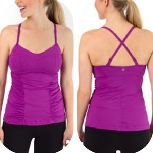 Lululemon Happy Heat Ultra Violet Ruched Tank Top